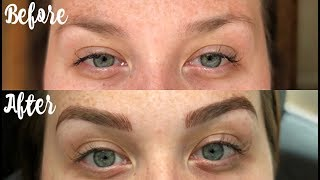 Microblading Before and After + 10 Day Healing Process