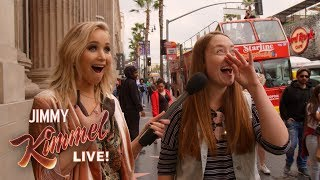 Guest Host Jennifer Lawrence Surprises People On Hollywood Blvd