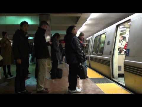 Richmond Train Arriving at Montgomery St. BART (HD)