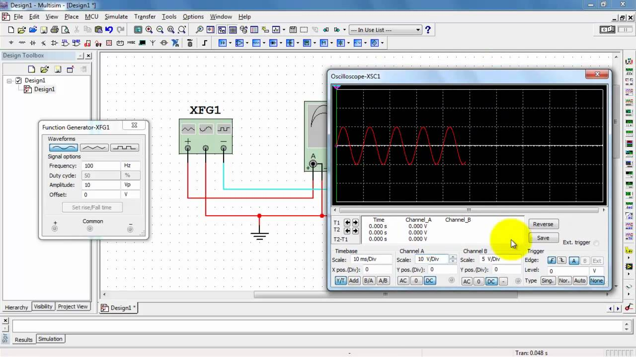 Ni Multisim Function Generator Youtube