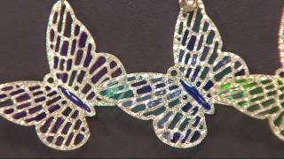 Vicenza Gold Enamel Butterfly Pendant 14K Gold, 1.7g on QVC