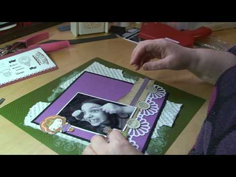 SCRAPBOOK LAYOUT - THE GREETING FARM - ARKIVET DEL 2 AV 2 Video
