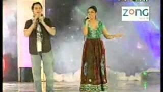 Hadiqa Kaini and irfan Khan Jaanan pashto song TV award 2010