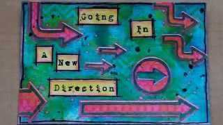 Mixed Media Art postcard - A New Direction