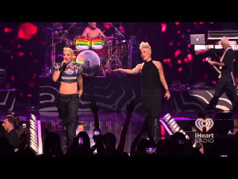 No Doubt ,HD,Just a Girl with PInk , live,iHeartRadio Music Festival   2012, HD 1080p