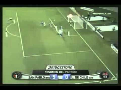 Sao Paulo 5-0 Universidad de Chile Copa Sudamericana 2012