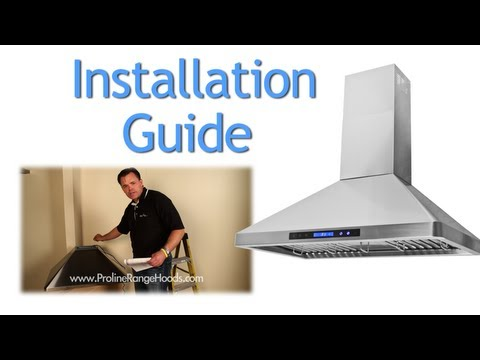 How to Install a Wall Mount Range Hood - PLJW 129