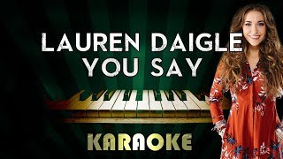 Download Lagu You Say - Lauren Daigle | LOWER Key Piano Karaoke Version Instrumental Lyrics Cover Sing Along Gratis STAFABAND