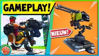 *UPDATE* EERSTE BEELDEN MOUNTED TURRET!! - Fortnite: Battle Royale
