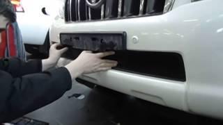 Видео: Установка защиты радиатора Toyota LC 150 Prado черная