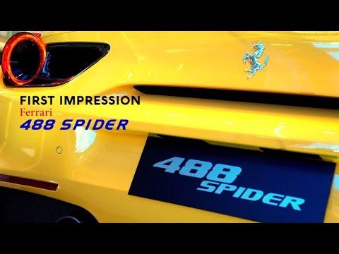 Video First Impression Ferrari 488 Spider