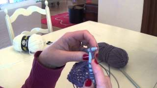 Πλέξιμο , αύξηση με καλό πόντο πλέκοντας και το εμπρός και το πίσω μέρος της θηλειάς