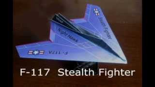 How To Fold An F-117 Night Hawk Paper Airplane
