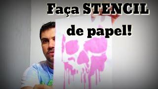 Como fazer Stencil de papel?