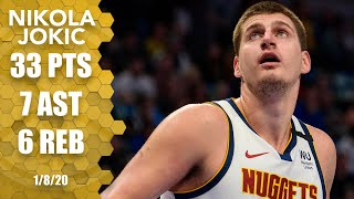 Nikola Jokic hits clutch shot late in 33-point effort for Nuggets vs. Mavs | 2019-20 NBA Highlights