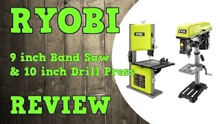 "Ryobi 9""  Band Saw & 10""  Drill Press Review"