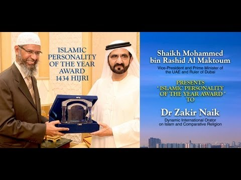 Dr Zakir Naik named as the Islamic Personality of the year 1434...