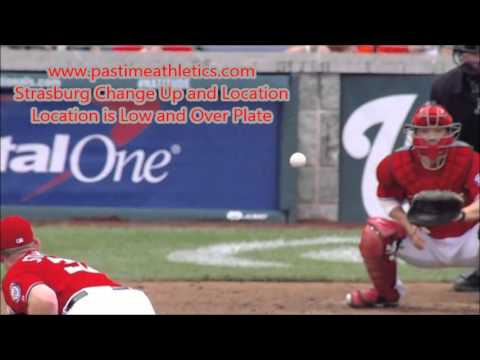 Stephen Strasburg Change Up and Location - Slow Motion Pitching Mechanics Instruction