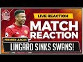 Swansea City 0-2 Manchester United | LINGARD Goals Sink Swans!