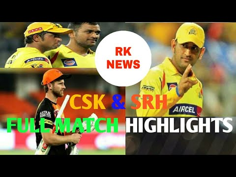 CSK & SRH | CSK and SRH match highlights | final match | Hindi | final match in hindi  |