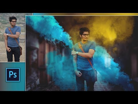Color Bomb Explosion Effect   UCreationz Color Smoke Spray Photo Editing in Photoshop