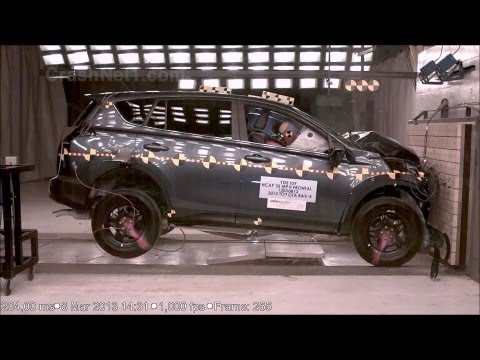 2013 Toyota RAV4 | Frontal Crash Test by NHTSA | CrashNet1