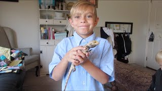 😢SAD KID SAYS GOODBYE TO HIS PET🐊⚰ | BOYS PET LIZARD DIED | DYCHES FAM