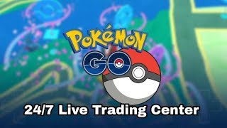 24/7  POKEMON GO LIVE TRADING CENTER-LOOKING FOR LUCKY POKEMON -REGIROCK RAIDS