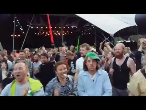 Drumming party after Africa Express @ Roskilde Festival 2015