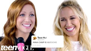 Pitch Perfect 3 Cast Competes in a Compliment Battle | Teen Vogue