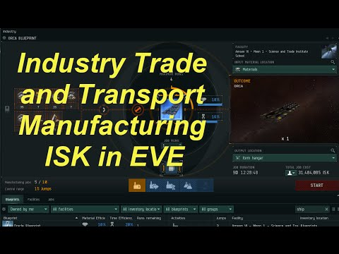 1440p Industry, Trade and Transport - Manufacturing ISK in EVE