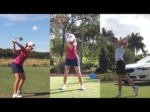 PAULA CREAMER - 2013 CME TOURNAMENT GOLF SWING COMPILATION 1080p HD