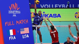 France v USA - Full Match - Semi Final | Men's VNL 2018
