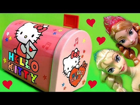 Hello Kitty ❤ Mystery Mailbox Surprise Lalaloopsy Play-doh Peppapig Kinder Frozen Anna Elsa Shopkins video
