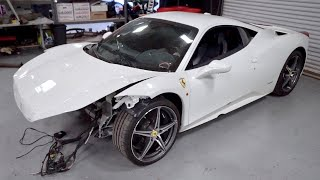Will the WRECKED Ferrari 458 Start?