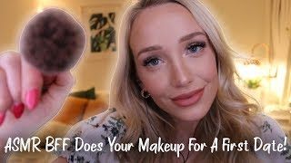 ASMR Best Friend Does Your Makeup & Outfit! (soft speaking, whispers, personal attention...)