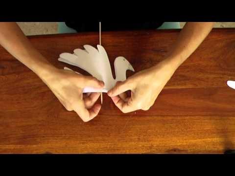 Manualidades - Como hacer una palomita