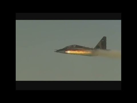 Firing Iranian-made laser guided missile from SU-25