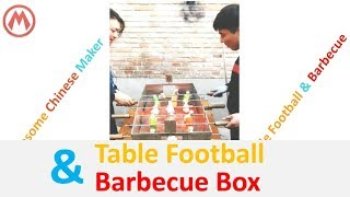 Table Football & Barbecue Box:Exhausted and Delicious