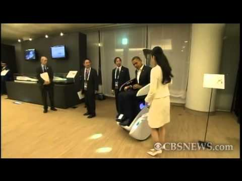 Obama Test Drives Japanese Technology