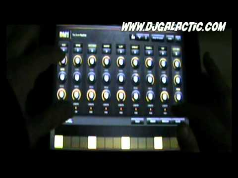 "The Drum Machine (DM1) on Apple Ipad 2  ""Planet"""