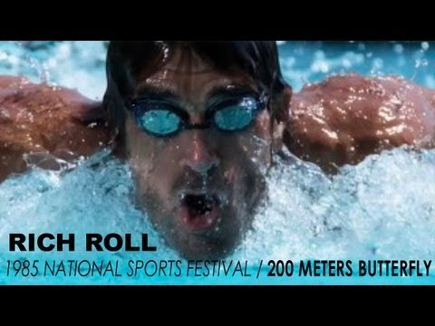 Rich Roll Races 200m Fly at 1985 National Sports Festival