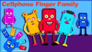 Cellphone Finger Family ( Funny Cartoons ) By Nursery Kids