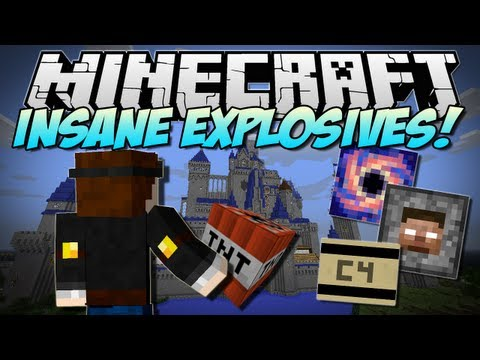 Minecraft   INSANE EXPLOSIVES! (Let's Blow Up DISNEY!)   Mod Showcase [1.5.2]