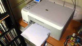 HP C4180 printing a test report