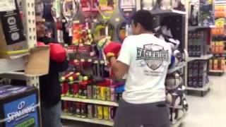 Dad vs son boxing