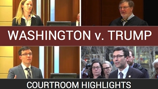 #Washington: The judge decision and #Trump standoff In court ban -#Courtroom Highlights