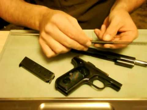 Colt 1903 Model M .32 1st Variation field strip procedure.
