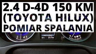 Toyota Hilux 2.4 D-4D 150 KM (AT) - pomiar zużycia paliwa