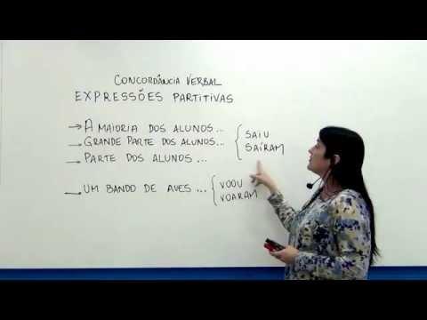 Português: Concordância Verbal - Expressões Partitivas